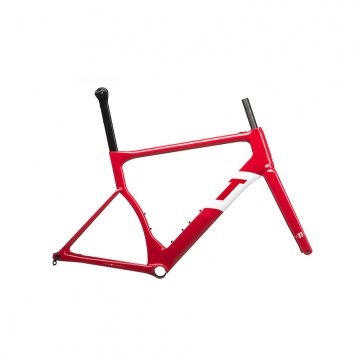 3T Strada Team Aero Road Bike RotWei CarbonRahmenset Gr L