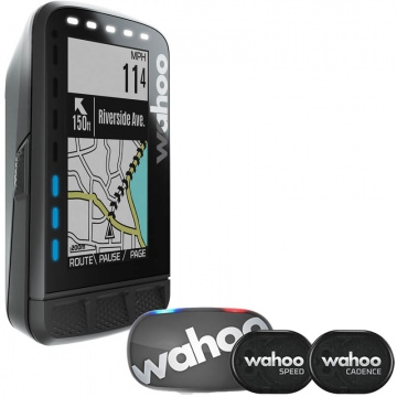 Wahoo Elemnt Roam Bundle  Set aus GPSFahrradcomputer  Tickr 2 Stealth Herzfrequenzmesser  RPM Speed  Cadence Sensoren