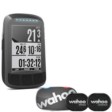Wahoo Elemnt Bolt Stealth Bundle  Set aus GPSFahrradcomputer  Tickr 2 Herzfrequenzmesser  RPM Speed  Cadence Sensoren