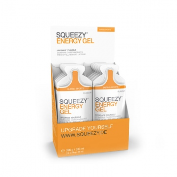 SQUEEZY Tomato Gel 12er Pack EnergieGel  33 g Geschmack Tomate