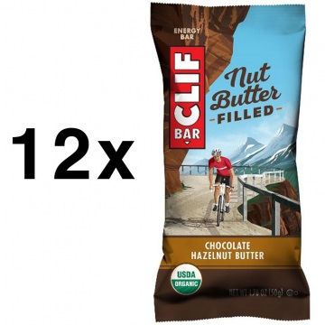 12x Clif Bar Energieriegel Nut Butter Filled Chocolate Hazelnut Butter SchokoladeHaselnuss im praktischen Karton