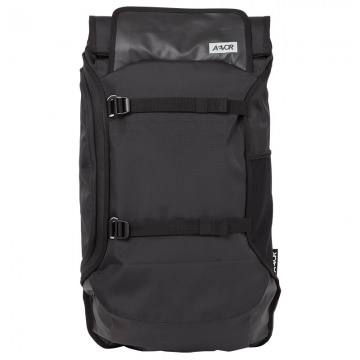 AEVOR Travel Pack Rucksack 38  45 Liter Volumen   Proof Black Schwarz