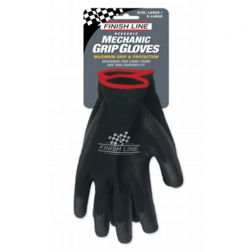 Finish Line Mechanic Grip Gloves MechanikerHandschuhe Gr LXL  Black Schwarz