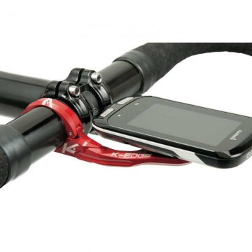 K-EDGE Lenkerhalter Garmin Mount XL 31,8 mm in rot für Edge 1030, 1000, 820, 520, etc.