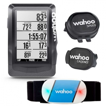 Wahoo Elemnt Bundle  Set aus GPSFahrradcomputer  Tickr Herzfrequenzmesser  RPM Speed  Cadence Sensoren