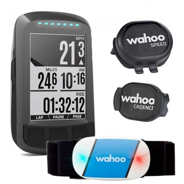 Wahoo Elemnt Bolt Bundle  Set aus GPSFahrradcomputer  Tickr Herzfrequenzmesser  RPM Speed  Cadence Sensoren
