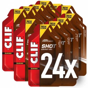24x Clif Bar SHOT Energy Gel Chocolate im Karton EnergieGel Schokolade