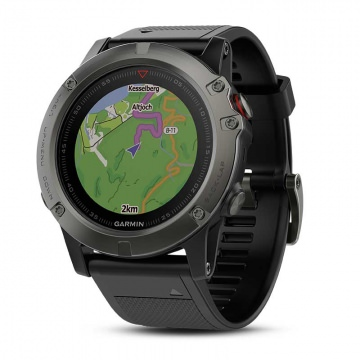 Garmin Fenix 5X Saphir HR GPS Navigations-Multisport-Trainingscomputer Triathlonuhr