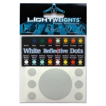 Lightweights Reflective Dots 3M Reflexpunkte 7er Set  White Wei