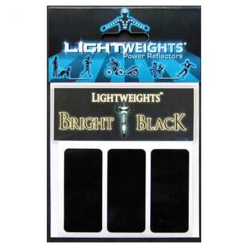 Lightweights Bright Black 3M Reflexstreifen 3er Set  Black Schwarz