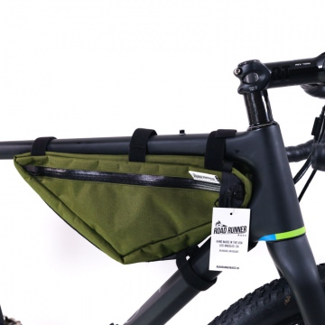 Road Runner Bags Wedge Half Frame Bag oliv BikepackingRahmentasche