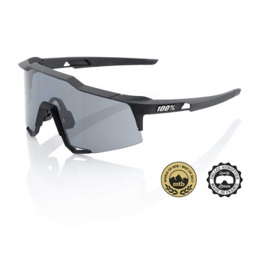 100 Speedcraft Sonnenbrille Soft Tact Black  Smoke Lens  Tall