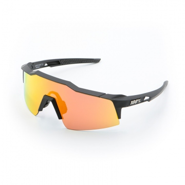 100 Speedcraft SL Sonnenbrille Soft Tact Black  HiPER Red Multilayer Mirror  Small