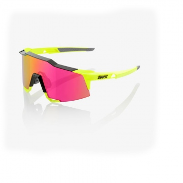 100 Speedcraft Sonnenbrille Polished Black  Fluo Yellow  Purple Multilayer Mirror Lens  Tall grössere Scheibe