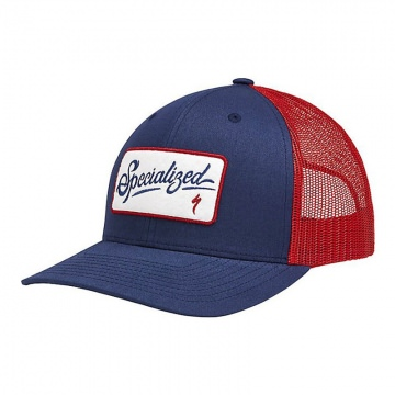 Specialized Script Trucker Snapback Cap  BlueRed BlauRot