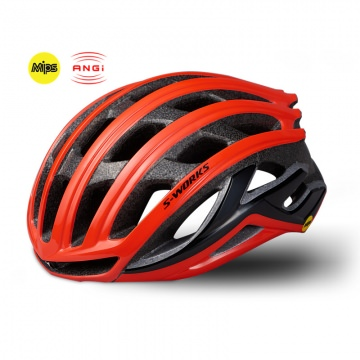 Specialized SWorks Prevail II ANGi  MIPS RennradHelm Gröe L Rocket Red
