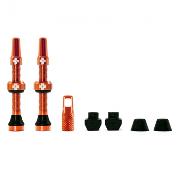 MucOff Tubeless Universelles VentilKit 44 mm für MTB  Rennräder  Orange