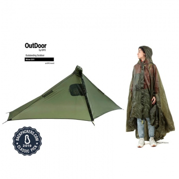 Six Moon Designs Gatewood Cape 2in1 Poncho und Zeltplane  Grün