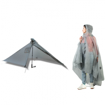 Six Moon Designs Gatewood Cape 2in1 Poncho und Zeltplane  Gray Grau