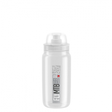 Elite Trinkflasche Fly MTB 550 ml TransparentGrau