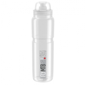 Elite Trinkflasche Fly MTB 950 ml TransparentGrau