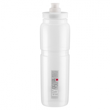 Elite Trinkflasche Fly 950 ml TransparentGrau