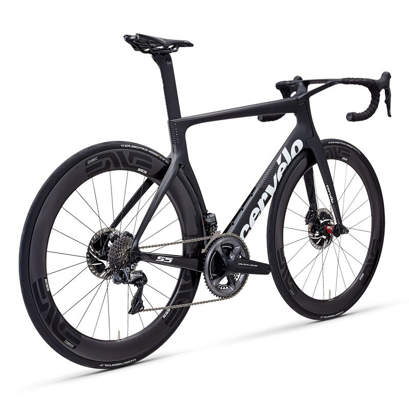 Cervelo S5 Komplettrad Disc Shimano DuraAce DI2 9170 Gr. 51 Farbe schwarz/weiss