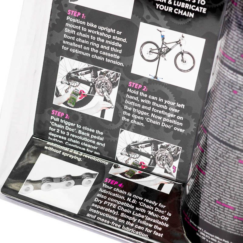 Muc Off Chain Doc (incl. Chain Cleaner 400ml) - Praktisches Twin Pack