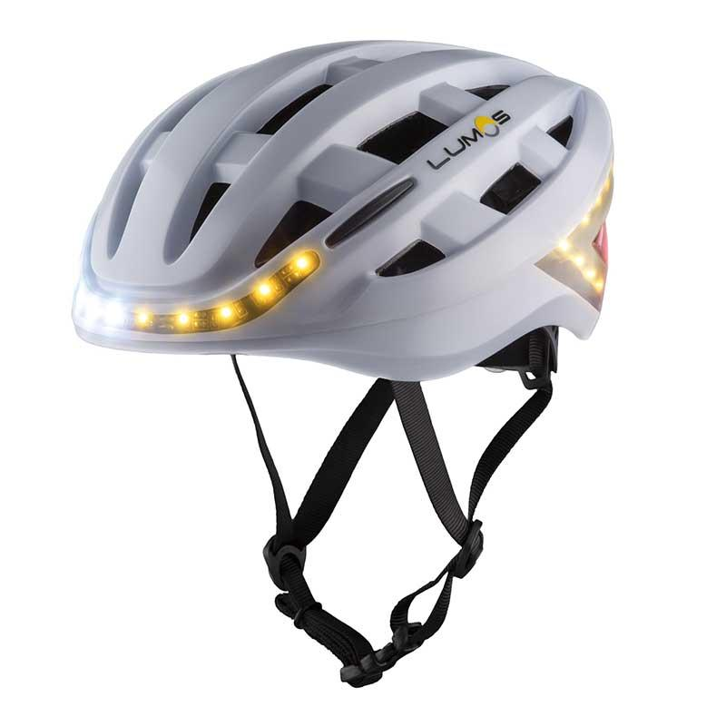 lumos helmet wei fahrradhelm mit beleuchtung blinker. Black Bedroom Furniture Sets. Home Design Ideas