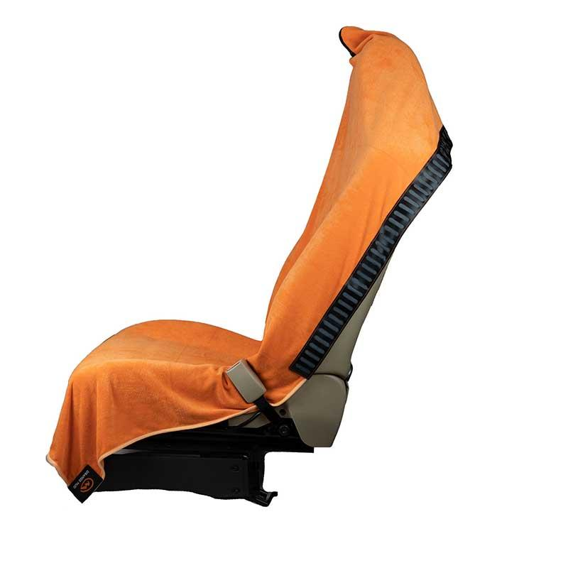 Orange Mud 3in1 Transition Wrap 2.0, Sporthandtuch + Autositz-Cover + Umzieh-Hilfe, orange