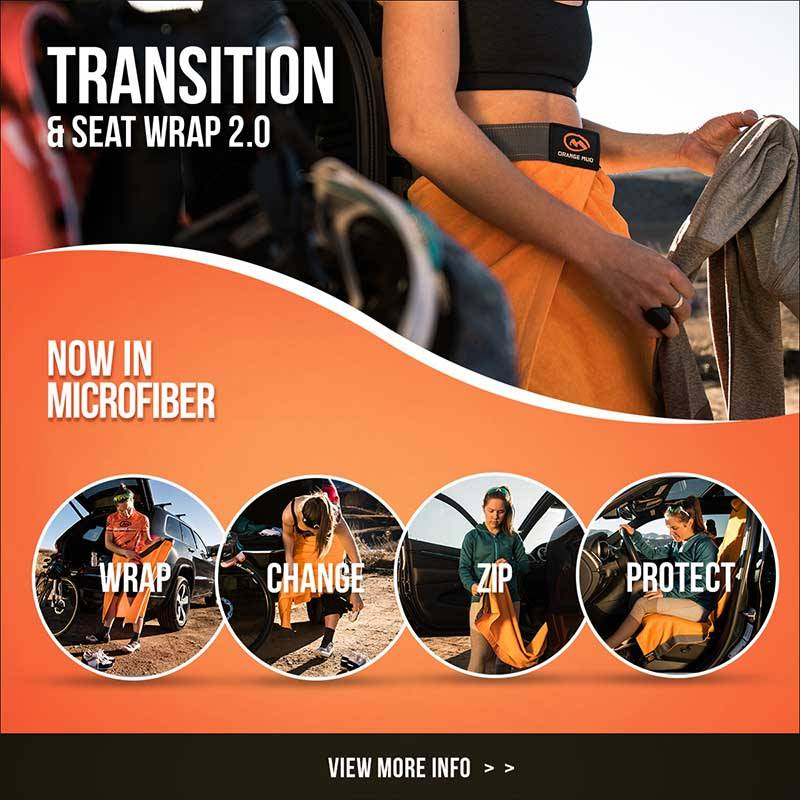 Orange Mud 3in1 Transition Wrap 2.0, Sporthandtuch + Autositz-Cover + Umzieh-Hilfe, grau