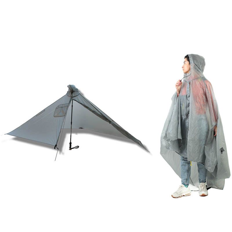 Six Moon Designs Gatewood Cape 2in1 Poncho und Zeltplane - Gray (Grau)